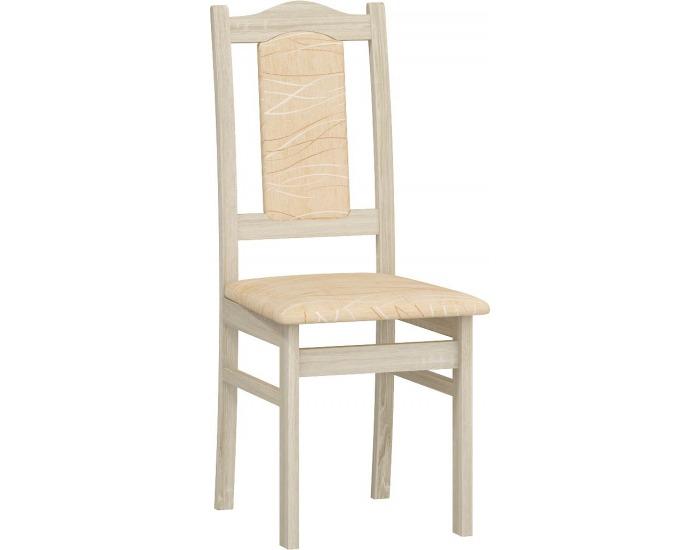 Jedálenská stolička A - sonoma svetlá / šenil monaco