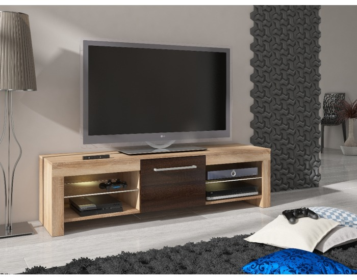 TV stolík Flex - sonoma svetlá / sonoma tmavá