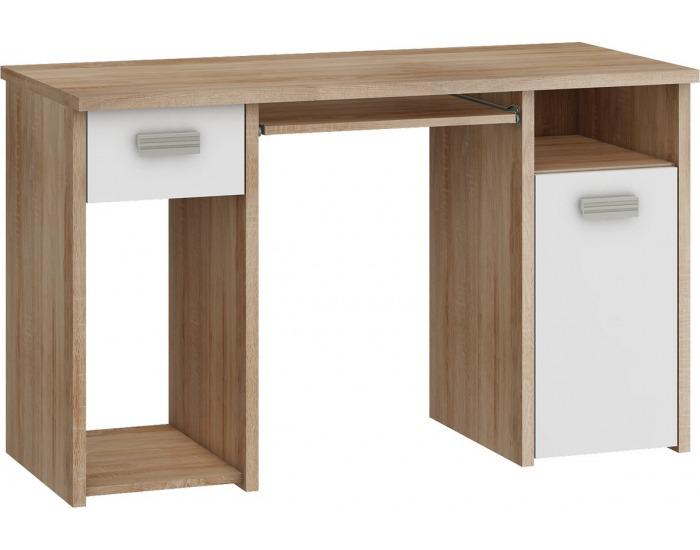 PC stolík Kitty KIT-01 - sonoma svetlá / biela