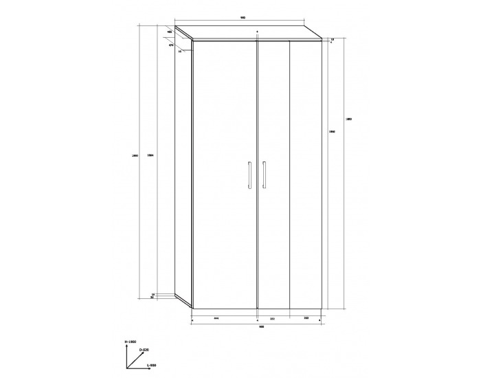 Obývacia izba Stella - biely mat / čierny vysoký lesk