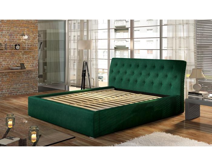 Čalúnená manželská posteľ s roštom Monzo UP 160 - svetlosivá (Paros 05)