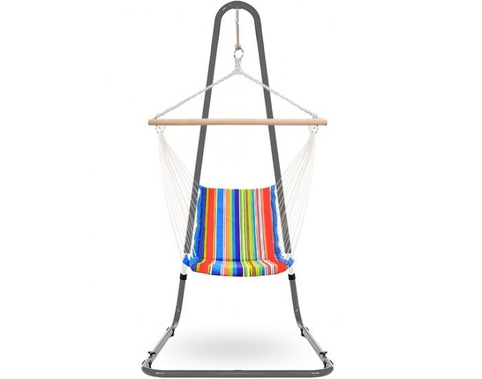Závesné hojdacie kreslo FHMK 100x58 cm - farebné pásy