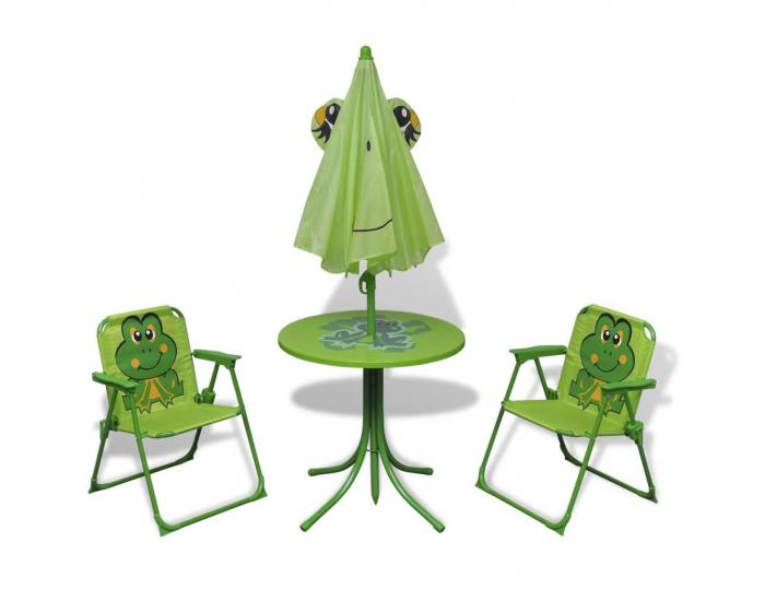 Detský záhradný set Frog - zelená