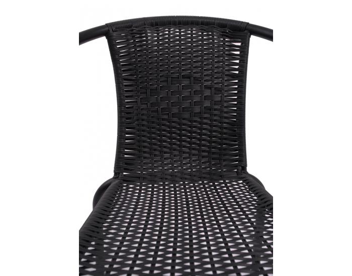 Záhradná stolička Herkules II - čierna