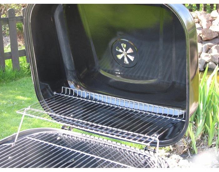 Záhradný gril MIR-417 - čierna