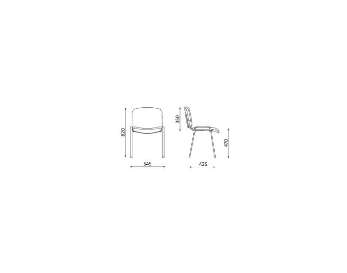 Konferenčná stolička Iso - hnedá látka (C24)