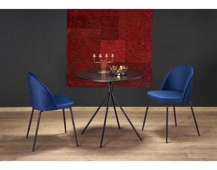 Okrúhly jedálenský stôl Fondi - čierna