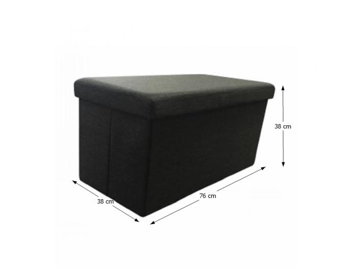 Skladacia taburetka s úložným priestorom Orelia - sivá