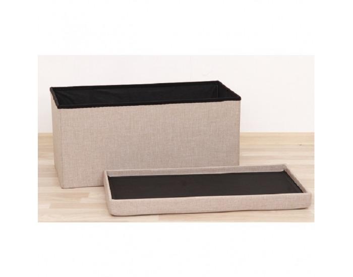 Skladacia taburetka s úložným priestorom Orelia - béžová