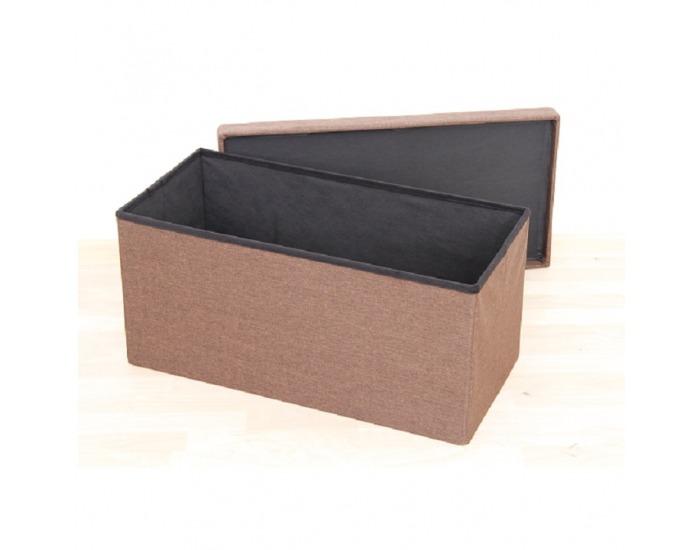 Skladacia taburetka s úložným priestorom Orelia - hnedá