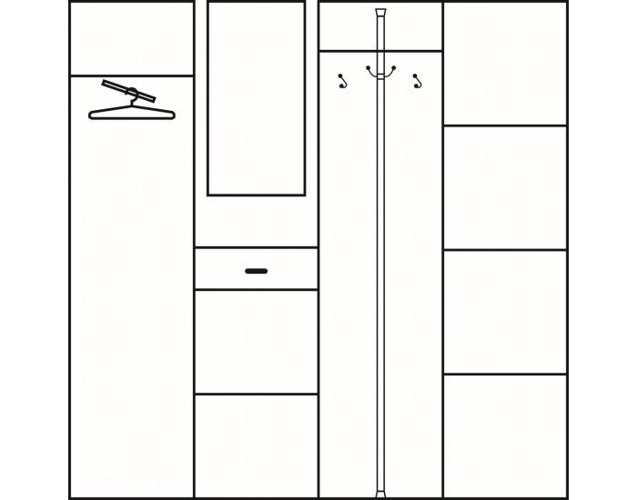 Predsieň Przedpokój 5 - slivka / biela