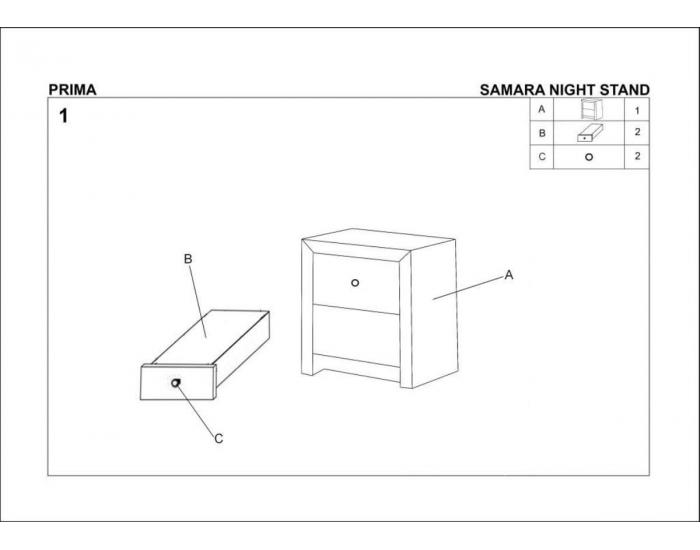 Čalúnený nočný stolík Prima - čierna
