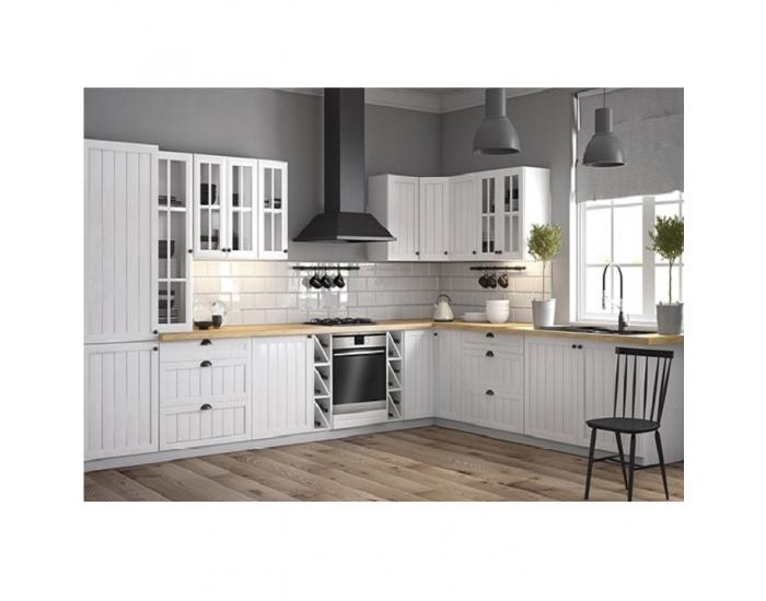 Horná kuchynská skrinka Provance G25P - biela