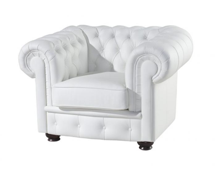 Kožená sedacia súprava Chesterfield - wenge / biela (Madras white)