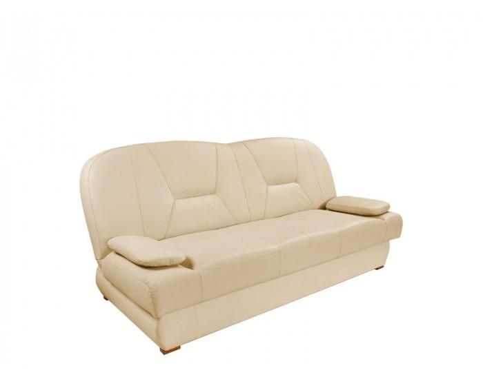 Kožená sedacia súprava s rozkladom Eryk 3W+1+1 - drevo D3 / koža S21
