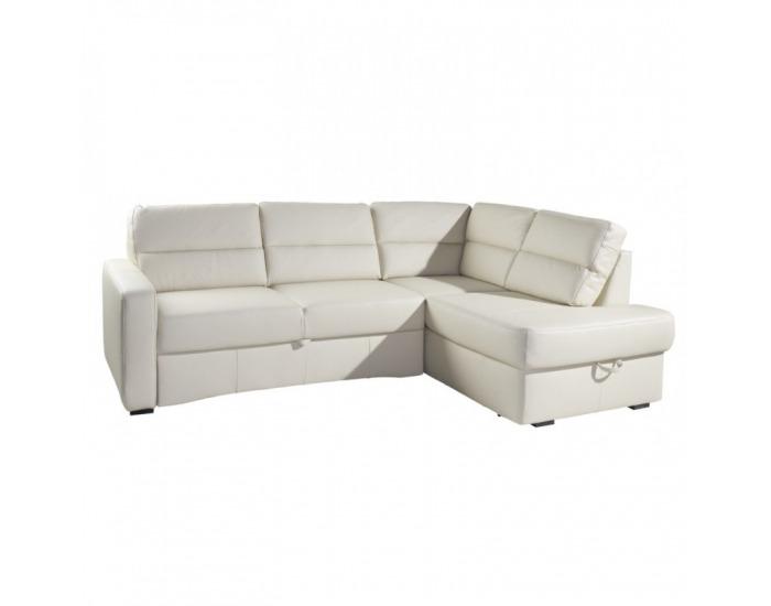 Kožená rohová sedačka s rozkladom Modern P - koža S21