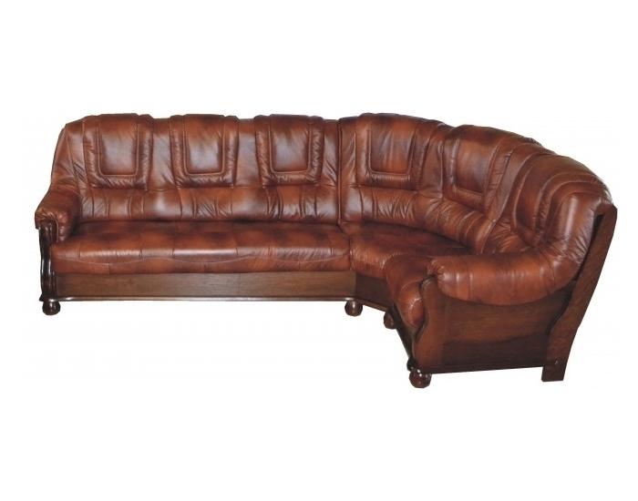 ec0cb6e32f Kožená rohová sedačka Roma P - drevo D3   koža S42 ...