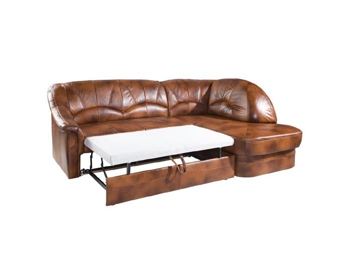 Kožená rohová sedačka s rozkladom Yardek P - koža S42
