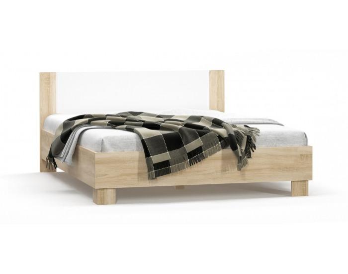 Manželská posteľ Markos 160 - dub sonoma / biela