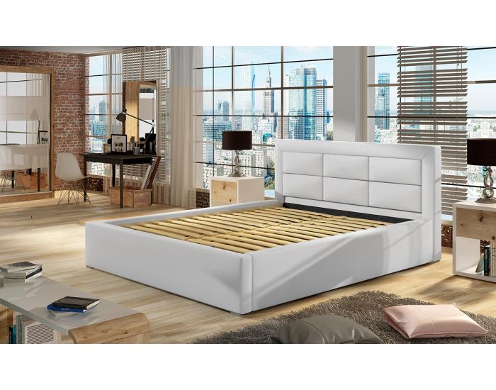 Čalúnená manželská posteľ s roštom Rovigo 200 - svetlosivá (Paros 05)