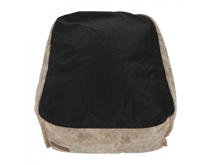 Sedací vak s taburetkou Folan - sivohnedá (taupe)