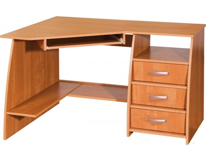 Rohový PC stôl Sevilla 3L - jelša