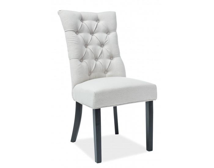 Jedálenská stolička Aleksander - krémová / čierna