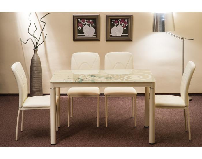 Jedálenský stôl Damar - krémová