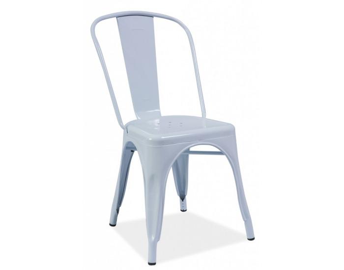 c66da4450882 Jedálenská stolička Loft - biely kov ...