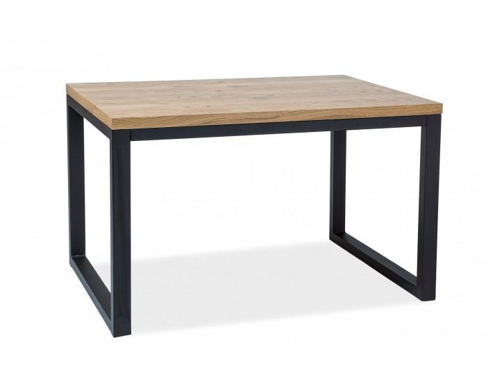 Jedálenský stôl Loras II - dub / čierna