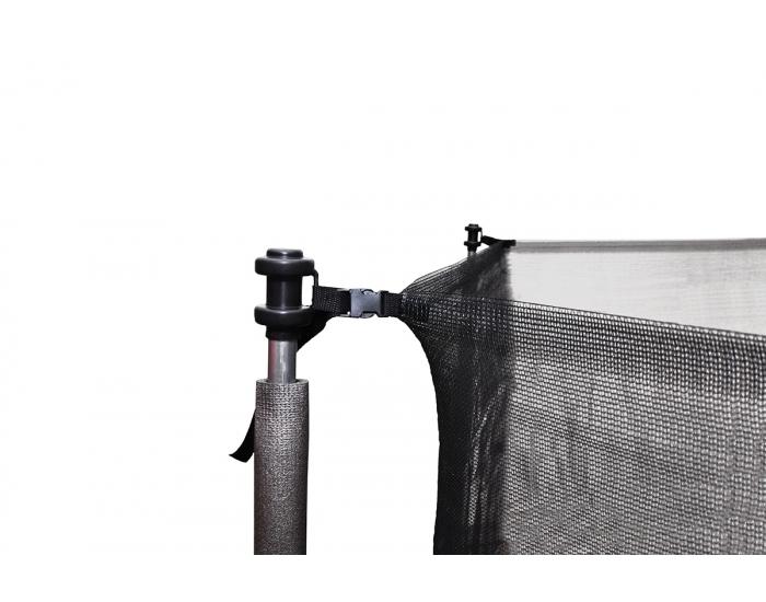 Trampolína Skyper 244 cm - čierna / sivá