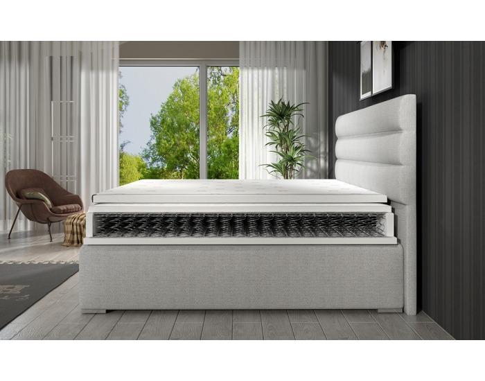 Čalúnená manželská posteľ s úložným priestorom Spezia 180 - žltá