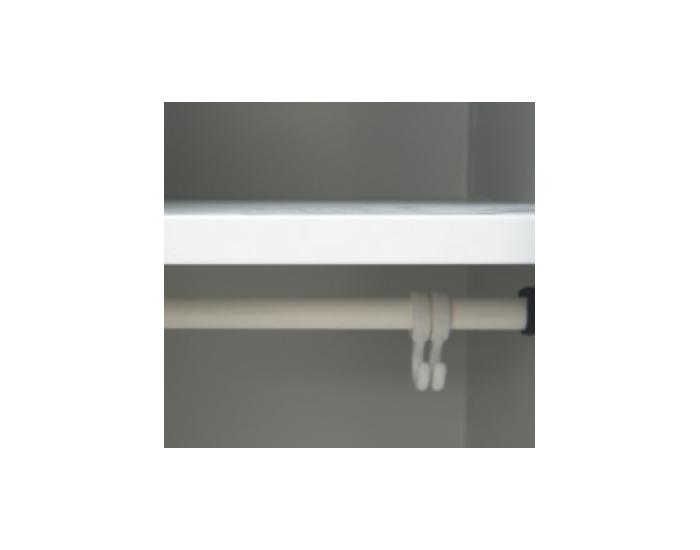 Kovová šatňová skriňa s dvoma komorami SUP E300-02 - svetlosivá