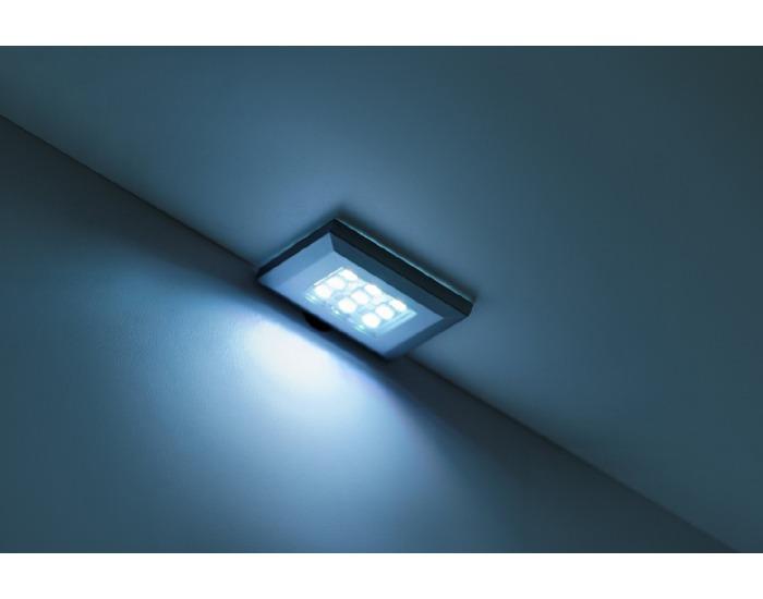 Obývacia stena s osvetlením Switch - biela / biely lesk