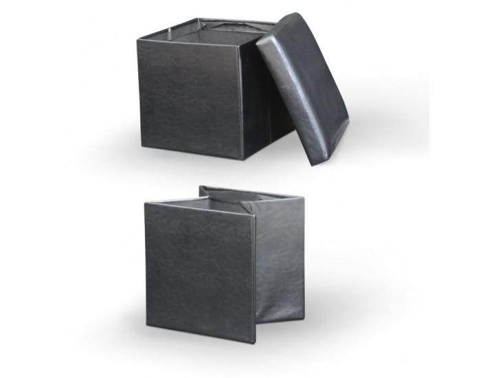 Taburetka s úložným priestorom Tela New - čierna