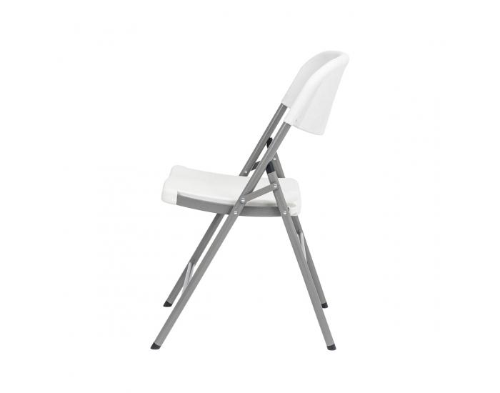Cateringová stolička Vivas - sivá / biela