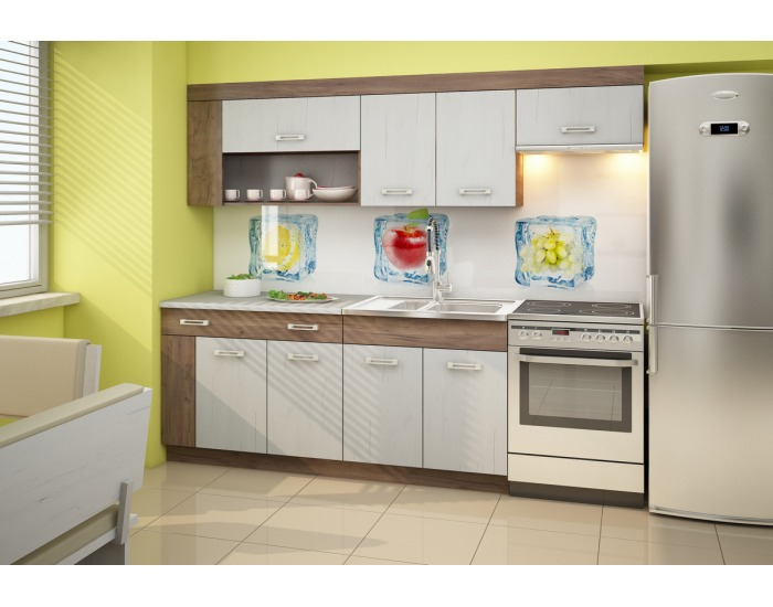 Kuchyňa Viza Plus - craft tobaco / craft biely
