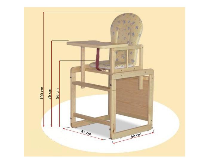 4f638281be22 ... Detská jedálenská stolička Heniek Maxi - borovica