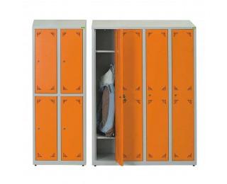 Školská šatňa - svetlosivá / oranžová