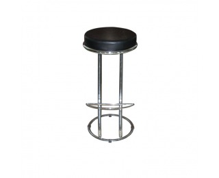 Barová stolička Zeta-Virgini - čierna / chróm
