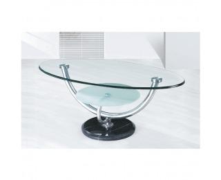 Sklenený konferenčný stolík Matt - chróm / sklo