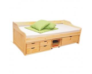 Drevená posteľ s roštom Maxi 90 - prírodná
