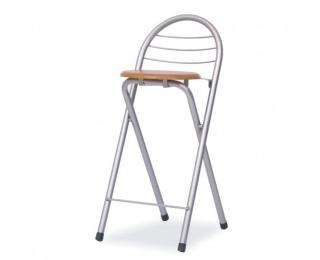 Barová stolička Boxer - buk / aluminium