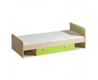 Jednolôžková posteľ s roštom a matracom Ego L13 80 - jaseň / zelená