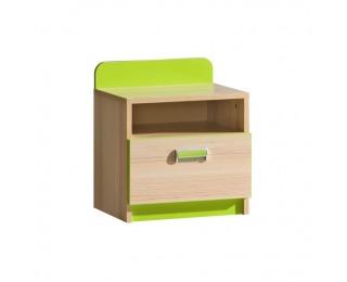 Nočný stolík Ego L12 - jaseň / zelená