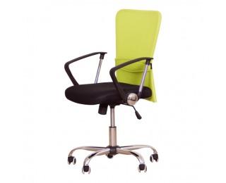 Kancelárska stolička s podrúčkami Aex - čierna / zelená