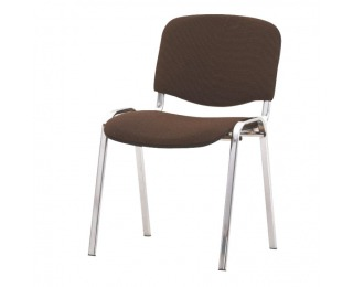 Konferenčná stolička Iso - chróm / hnedá