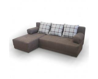 Rohová sedačka s rozkladom a úložným priestorom Mexx L - sivá / vzor