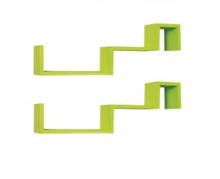 Poličky (2 ks) Fri - zelená
