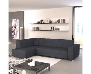 Rohová sedačka s rozkladom a úložným priestorom Colli L - sivočierna